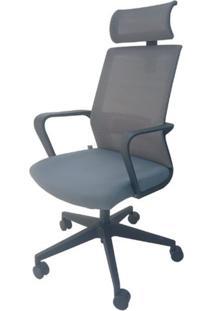 Cadeira Escritorio Atomic Cinza 1,27 Mt (Alt) - 48086 - Sun House