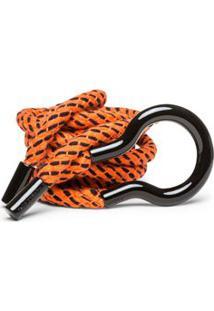 Cinto Cintura Quadril Fino Corda Com Pesponto Laranja - M