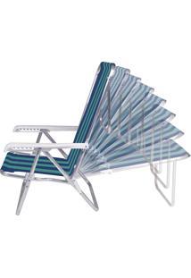 Cadeira Reclinável Alumínio 8 Posições 2229