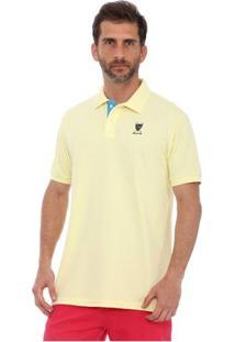 Camisa Polo New York Polo Club Slim - Masculino-Amarelo Claro