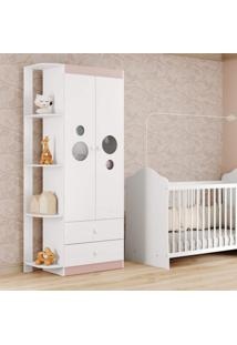Guarda Roupa De Bebê 2 Portas 2 Gavetas Ping Pong Multimóveis Flex Color Branco Polar/Colorido Premium