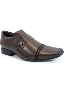 Sapato Social Jota Pe Flex Feet Dark Brown Café - 30517