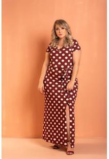 Vestido Longo Lindsay Poa Plus Size