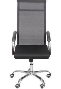 Cadeira Office Toronto- Preta & Prateada- 113,5X54X4Or Design