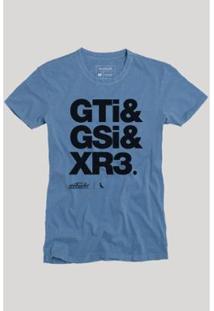 Camiseta Gti Reserva Masculina - Masculino-Azul Claro