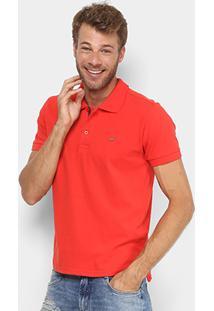 Camisa Polo Gangster Piquet Com Elastano Masculina - Masculino-Vermelho Claro