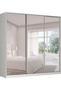 Guarda-Roupa Casal Com Espelho Tunas Ii 3 Pt 3 Gv Branco