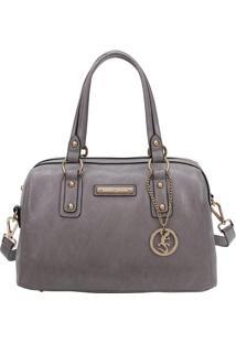 Bolsa Ba㺠Com Recortes & Bag Charm- Cinza- 18X32X16Cfellipe Krein