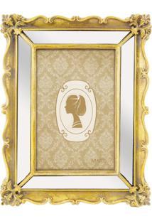 Porta Retrato Mart Antique Dourado Em Poliresina 10X15