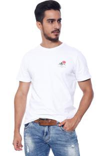 Camiseta Vide Bula Slim Estampado Branco