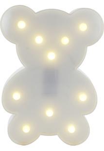 Luminária Objeto Decorativo Adoraria Urso Uminoso Multicolorido Branco