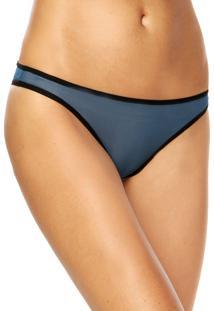 Calcinha Calvin Klein Underwear Tanga Debrum Azul