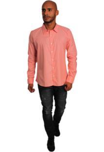 Camisa Joss Social Color Salmao Laranja