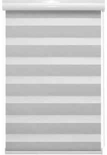 Persiana Rolô Em Poliéster Rainbow Zebra 160X140Cm Branca