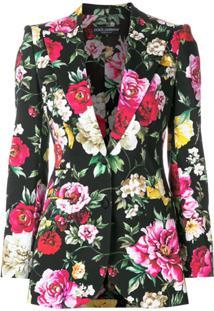 Dolce & Gabbana Blazer Floral - Preto