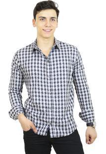 Camisa Slim Victor Deniro Digitale Preta