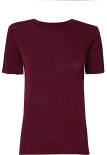 Camiseta Le Lis Blanc Paloma Ii Tricot Vinho Feminina (Listrado (Petrus/Navy Blue) Cancelado, M)
