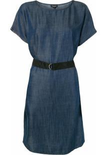 Emporio Armani Vestido Jeans Com Cinto - Azul