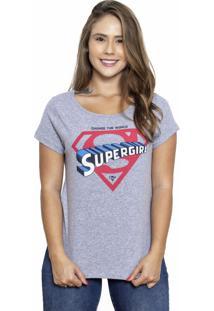 Camiseta Sideway Super Girl - Cinza
