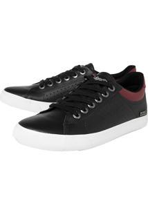 Sapatênis Coca Cola Shoes Perfuros Preto