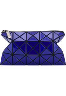 Bao Bao Issey Miyake Carteira Geométrica Com Zíper - Azul