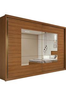 Guarda Roupa Casal C/ Espelho 2 Portas De Correr 6 Gavetas Toronto Plus Rovere Naturale/Off White/Rovere Naturale Lopas - Tricae
