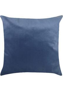Capa Para Almofada Veludo 43X43Cm Azul Marinho