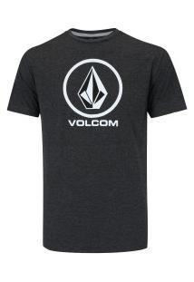 Camiseta Volcom Crisp Stone - Masculina - Preto