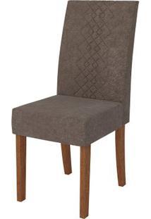 Cadeira Olímpia 2 Peças - Rústico Terrara Com Pena Marrom