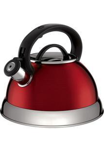 Chaleira Boiler- Inox & Vermelha- 2,8L- Euro Homeuro Homeware
