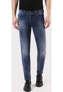 Calça Jeans Diesel Sleenker Masculina - Masculino-Azul
