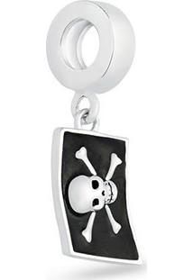 Pingente Life Bandeira Pirata Capitã£O Gancho Disney Vilãµes