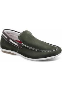 Sapato Masculino Dockside Sandro Moscoloni Malibu Verde