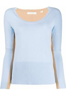 Chinti And Parker Blusa De Tricô Bicolor - Azul