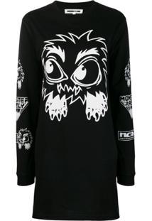 Mcq Alexander Mcqueen Monster Print Dress - Preto