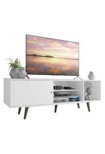 Rack Madesa Dubai Para Tv Até 65 Polegadas Com Pés Branco/Rustic