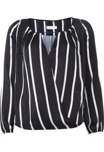 Blusa Calvin Klein Listrada Preta - Kanui