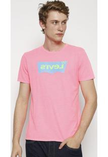"Camiseta ""Levi'Sâ®""- Rosa Neon & Verdelevis"
