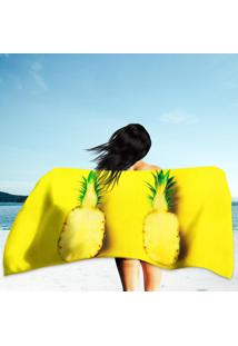 Toalha De Praia / Banho Abacaxi Yellow