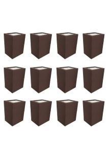 Arandela Premium Marrom Kit Com 12 Casah