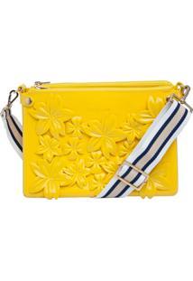 Bolsa Petite Jolie Flores Amarela