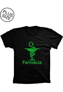 Camiseta Lu Geek Plus Size Farmácia Preto