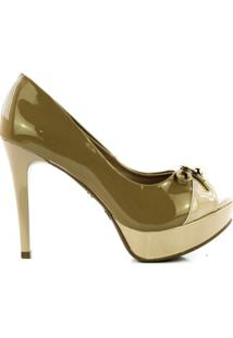 Sapato Lidia Couto - Feminino-Bege