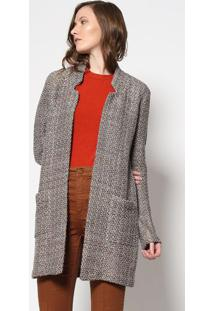 Blazer Maria Em Tweed - Cinza & Douradole Lis Blanc