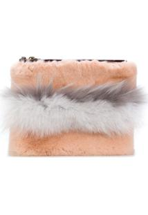 Mr & Mrs Italy Clutch Com Zíper - Rosa
