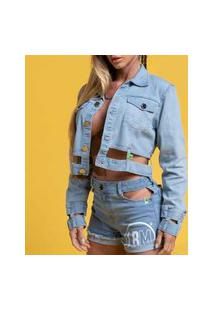 Jaqueta Jeans Recortes Jaqueta Jeans Recortes 22522 - M/M