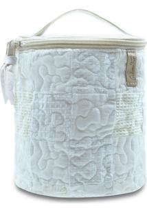 Necessaire Morgana Begonia Em Patchwork Original - Branco - Feminino - Dafiti