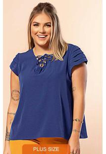 Blusa Secret Glam Azul