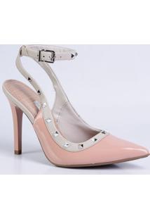 Scarpin Feminino Chanel Verniz Spikes Via Marte