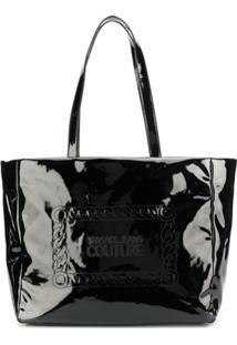 Versace Jeans Couture Bolsa Tote Envernizada - Preto